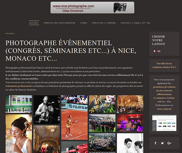 Gilles Ehrentrant, photographer at Nice, Monaco and all the French Riviera